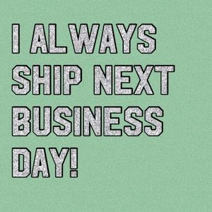 I WILL SHIP NEXT BUSINESS DAY! Fast shipping!!